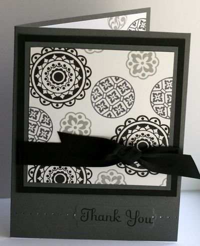 Manly Thank You Stamp With Heather