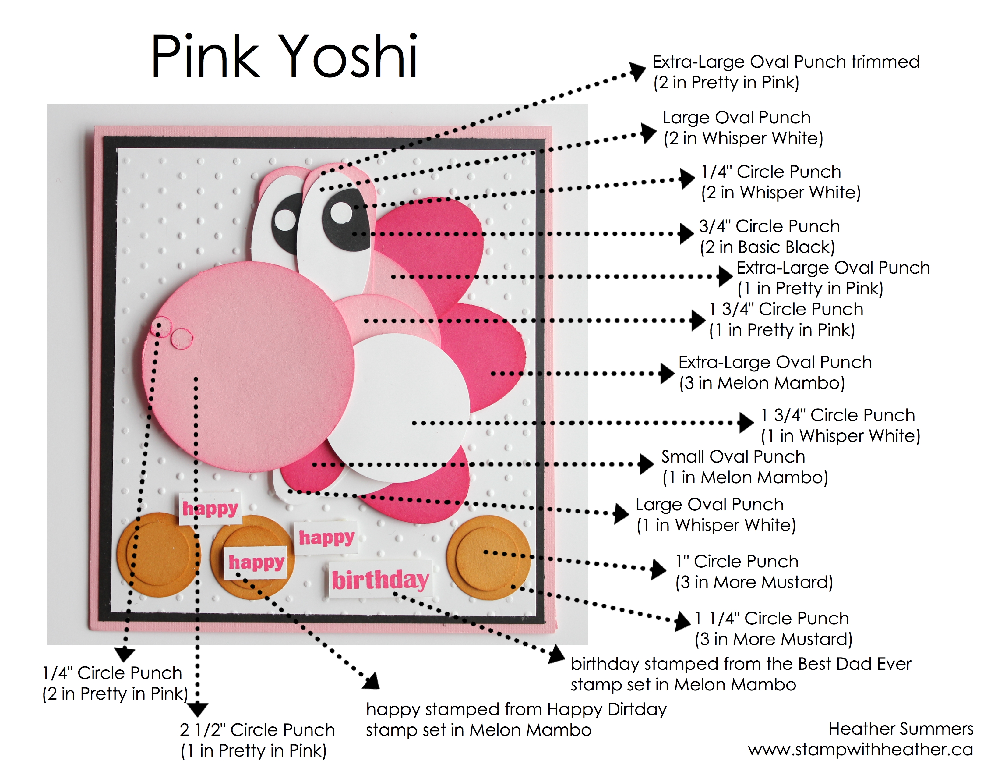 Pink yoshi card stamp with heather april online class 001 bookmarktalkfo Image collections